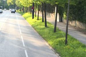 Radschutzstreifen im Norden Tutzings